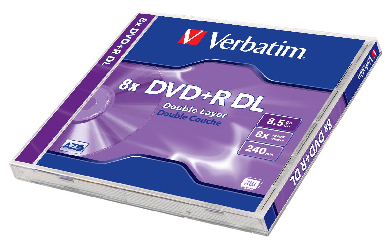 Диск Verbatim DVD+R DL 8.5Gb