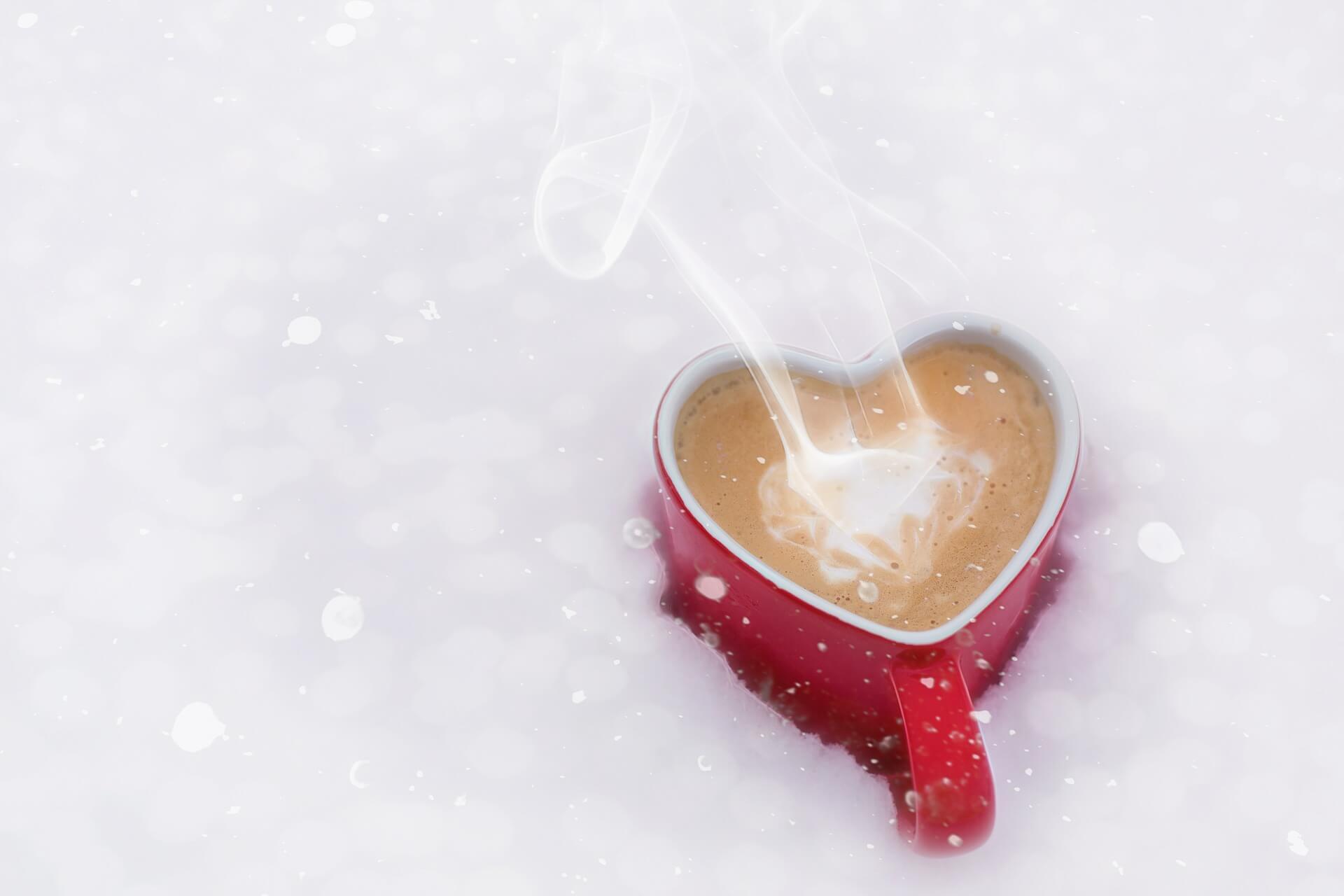 Чашка кофе в виде сердца
