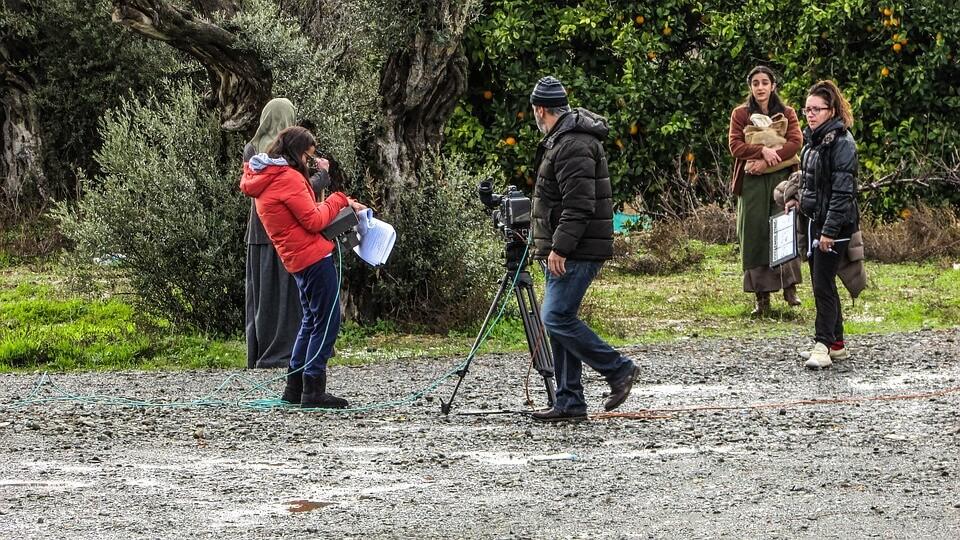 Съемка видео в парке