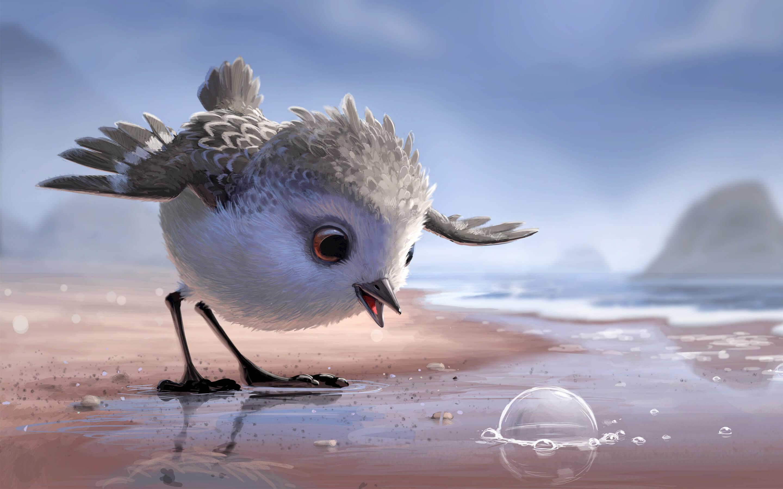 Песочник -  Маленькому птенцу предстоит преодолеть свои страхи, чтобы научиться добывать едуи увидеть красоту окружающего мира