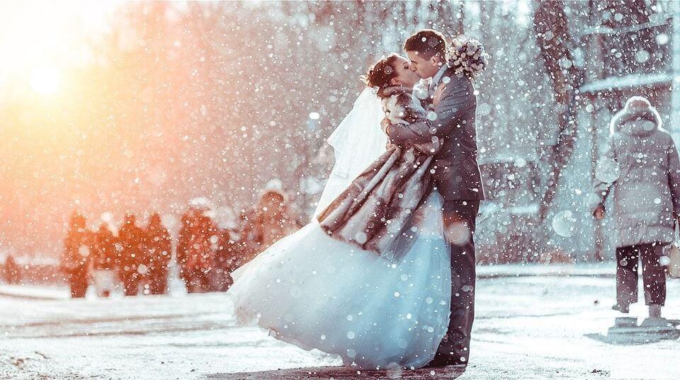 Свадебная фотосессия в зиму