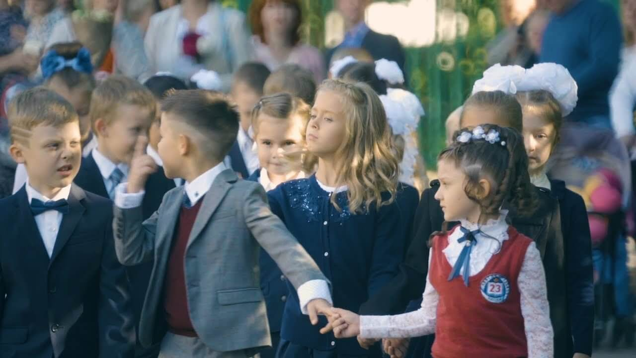 Видеосъёмка Первого сентября в школе