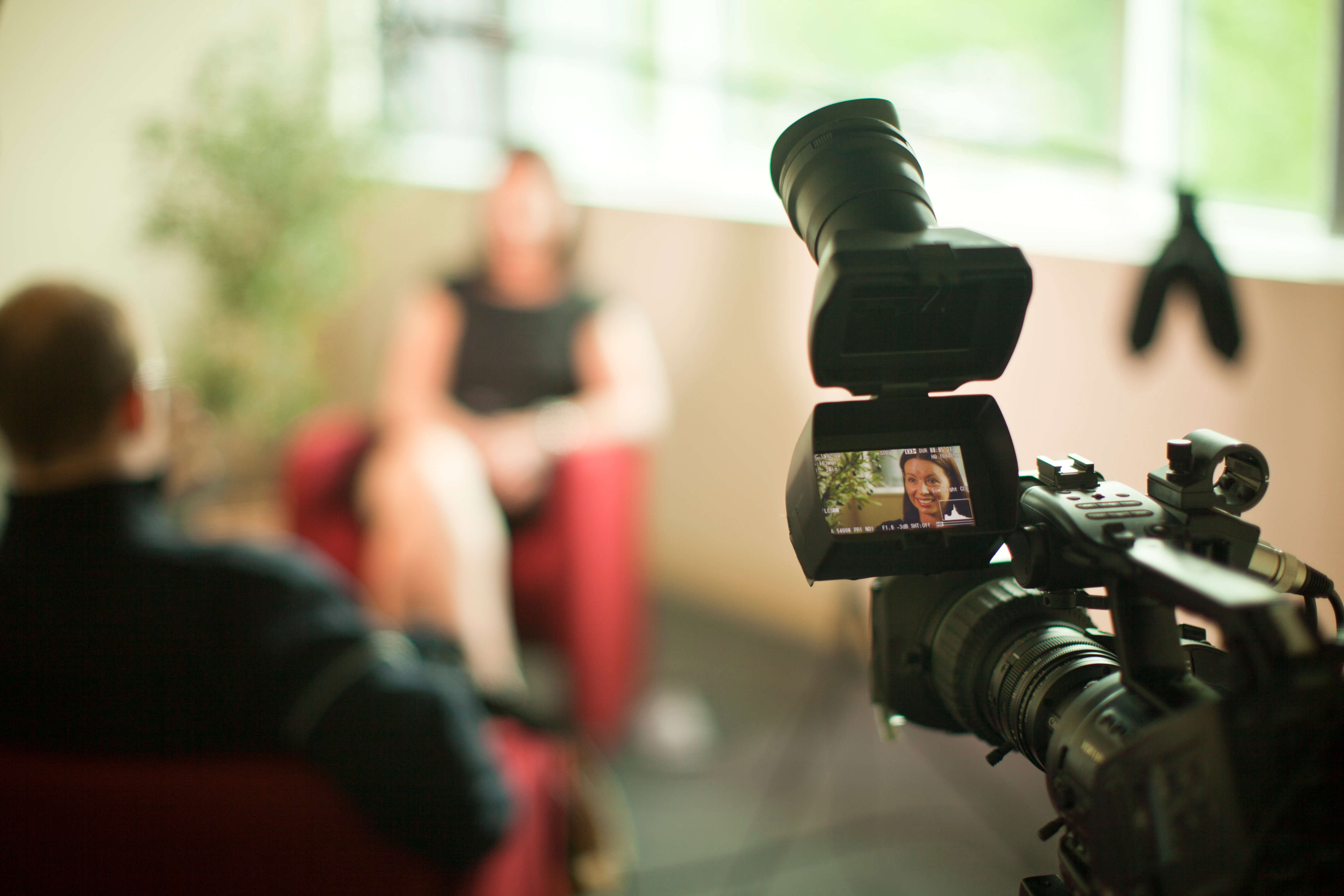 Интервью в кадре