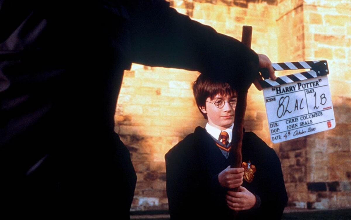 На съемочной площадке фильма Гарри Поттер