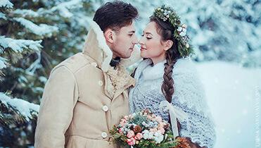 Как молодоженам подготовиться к съемкам зимнего свадебного видео