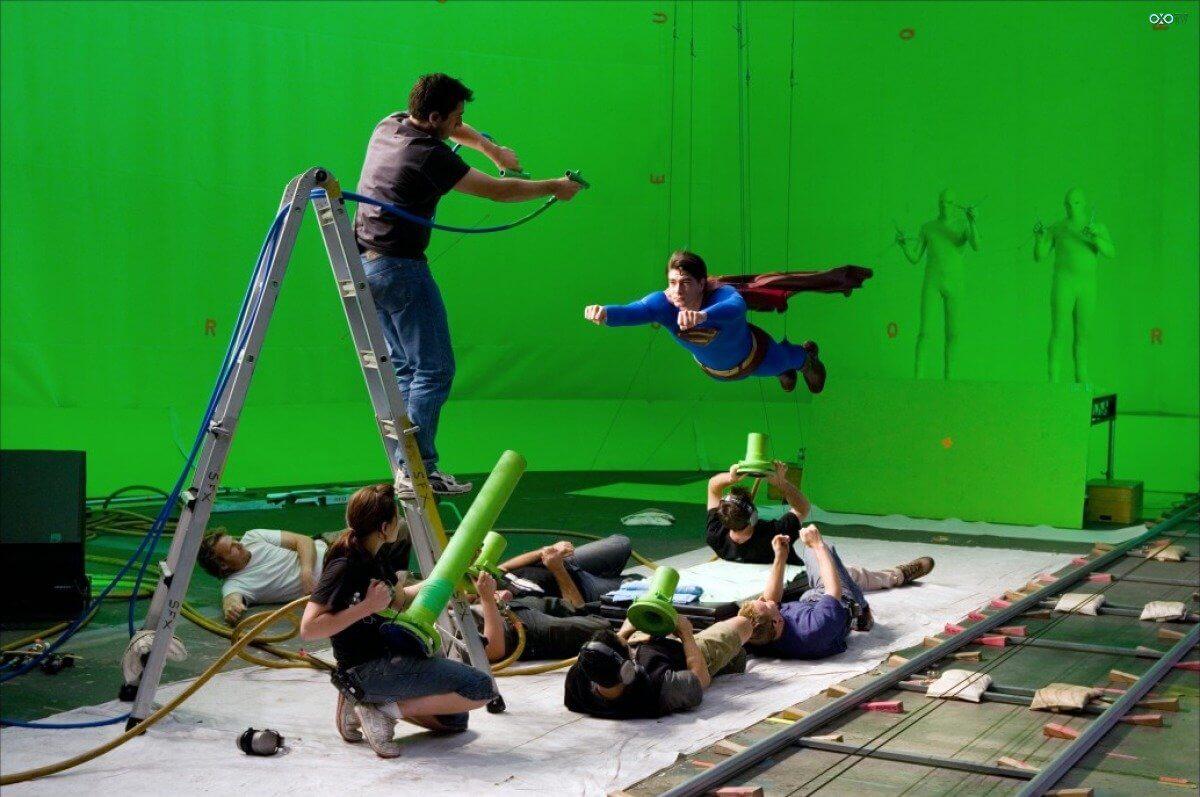 Хромакей супермен