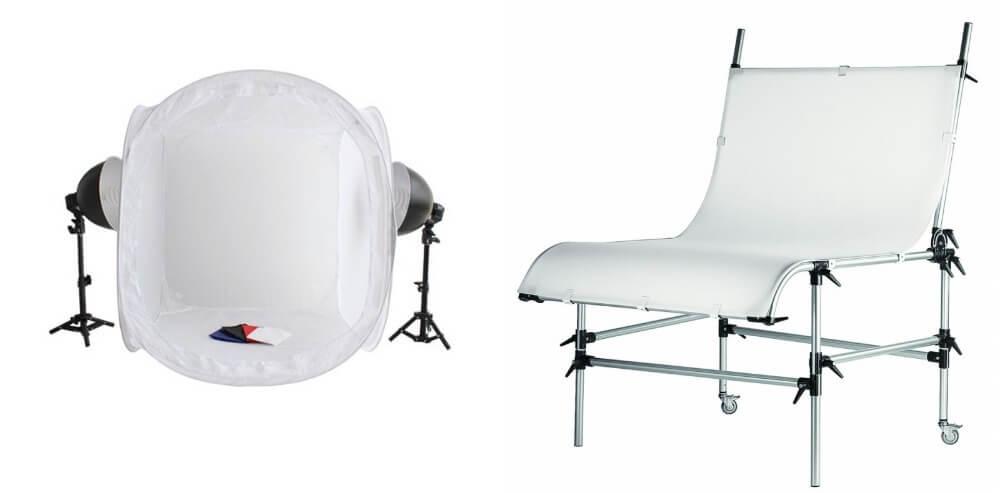 Световой куб или фотобокс и стол для предметной съёмки