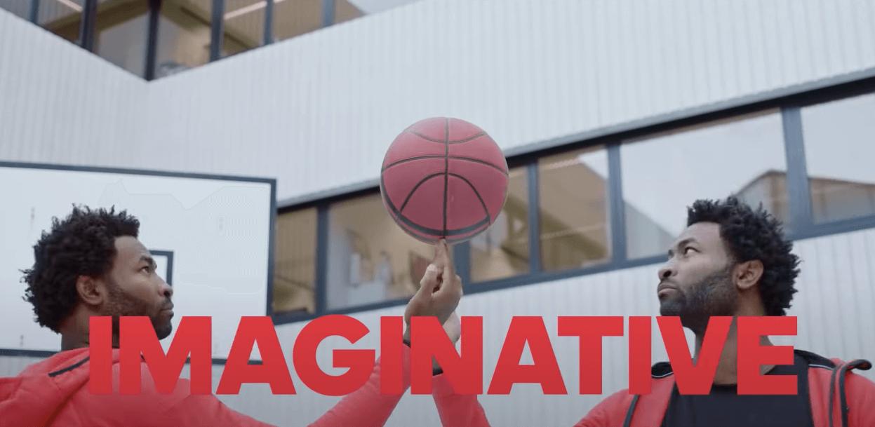 Реклама с чернокожим баскетболистом