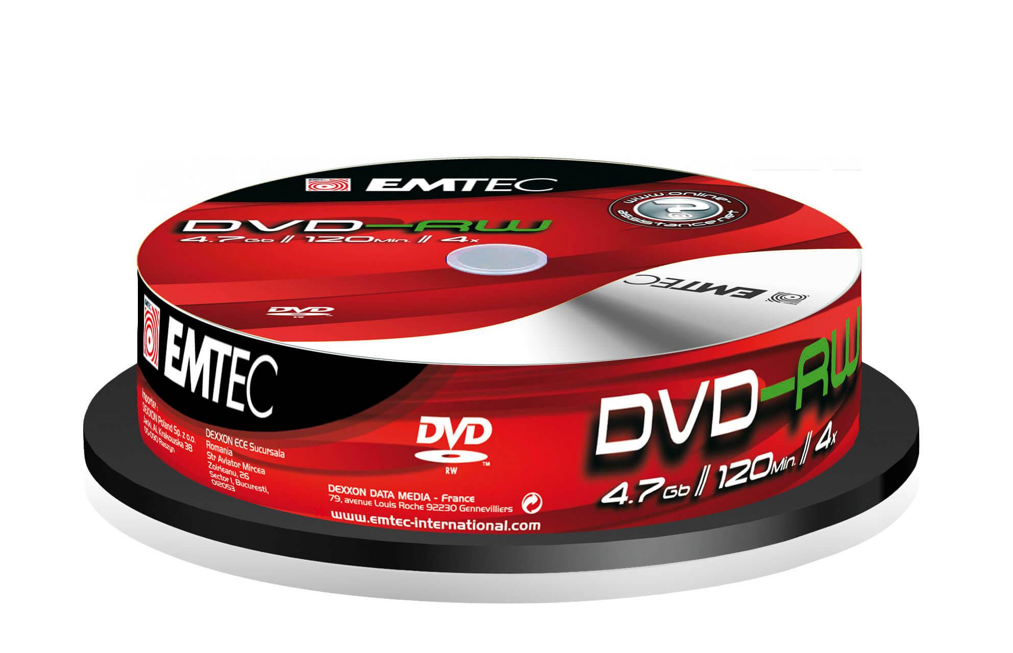 Диски Emtec DVD-RW 4.7Gb 4x в упаковке