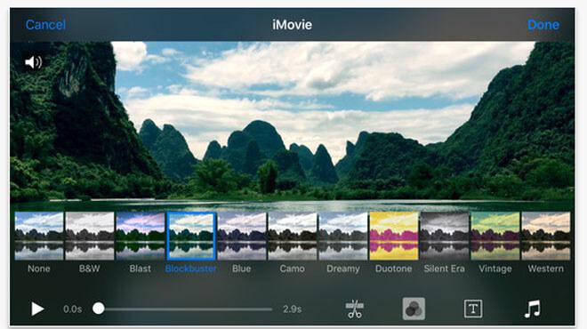 iMovie для монтажа