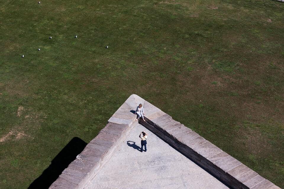 Кадр снятый с крыши